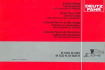 M 1320 - M 1322 - M 1322 H - M 1620 H - Ersatzteilliste Fahrerkabine / Spare parts list driver's cab / Liste de pièces de rechange cabine du conducteur / Lista de piezas de recambio cabina del conductor
