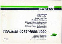 TOPLINER 4075-4080-4090 - Ersatzteilliste / Liste de Pièces de Rechange / Spare Parts List / Elenco dei Pezzi di Ricambio / Lista de Piezas de Recambio