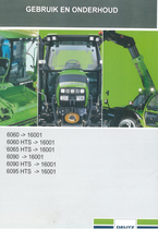 6060 ->16001 - 6060 HTS ->16001 - 6065 HTS ->16001 - 6090 ->16001 - 6090 HTS ->16001 - 6095 HTS ->16001 - Gebruik en onderhoud