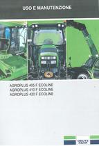 AGROPLUS 405 F ECOLINE - 410 F ECOLINE - 420 F ECOLINE - Uso e manutenzione