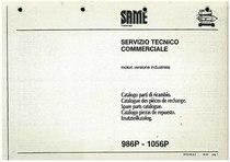 MOTORE 986 P - 1056 P - Catalogo Parti di Ricambio / Catalogue de pièces de rechange / Spare parts catalogue / Ersatzteilliste / Lista de repuestos