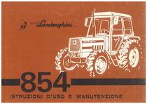 854 - Libretto uso & manutenzione