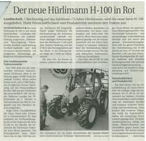 Der neue Hurlimann H-100 in Rot