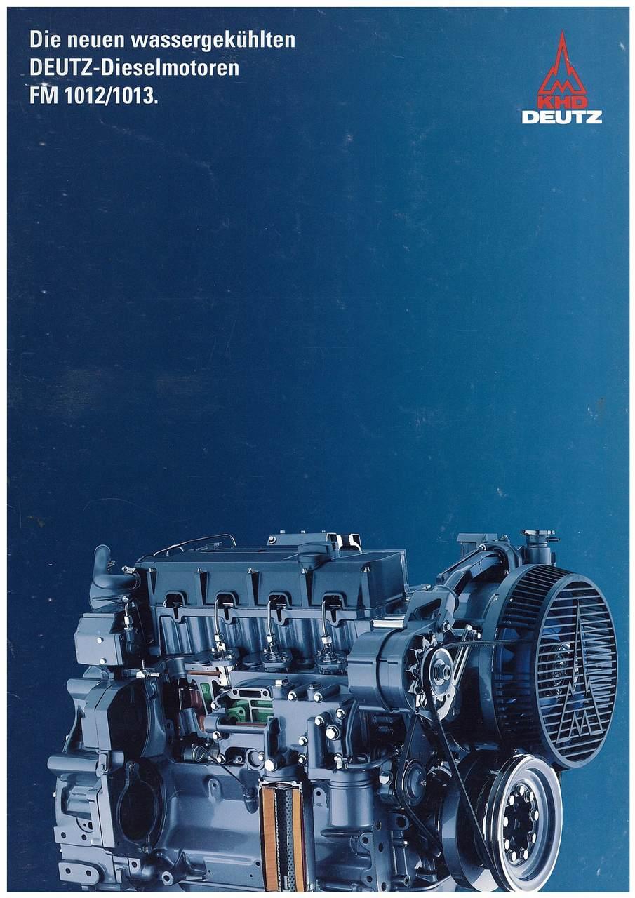 Die neuen wassergekuhlten - DEUTZ - Dieselmotoren FM 1012-1013