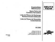 M 2385 - Ersatzteilliste / Spare parts list / Liste de pièces de rechange / Lista de repuestos