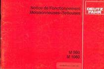 M 980 - M 1080 - Notice de fonctionnement