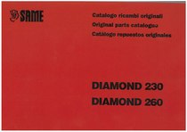 DIAMOND 230 - 260 - Catalogo Parti di Ricambio / Spare parts catalogue / Lista de repuestos