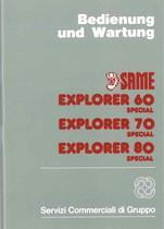 EXPLORER 60 - 70 - 80 SPECIAL - Bedienung und Wartung