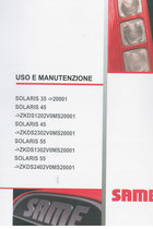 SOLARIS 35 ->20001 - SOLARIS 45 ->ZKDS1202V0MS20001 - SOLARIS 45 ->ZKDS2302V0MS20001 - SOLARIS 55 ->ZKDS1302V0MS20001 - SOLARIS 55 ->ZKDS2402V0MS20001 - Uso e manutenzione