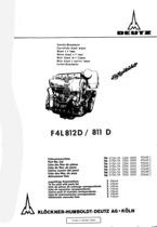F4 L 812 D-811 D - Ersatzteilliste / Spare parts catalogue / Catalogue de pièces de rechange / Lista de repuestos