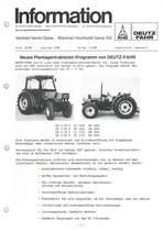Händler info Neues Plantagentraktoren Programm