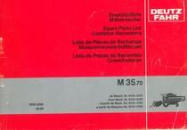 M 35.70 - Ersatzteilliste ab Masch. Nr. 6114-0101 / Spare parts list from Mach. Nr. 6114-0101 / Liste de pièces de rechange à partir de Mach. No. 6114-0101 / Lista de piezas de recambio a partir de Maquina No. 6114-0101