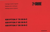 KRYPTON F 78 M-N-C - KRYPTON F 88 M-N-C - KRYPTON F 98 M-N-C - Catalogo ricambi originali / Original parts catalogue / Catalogo peças originais