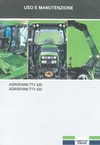 AGROFARM TTV 420 - AGROFARM TTV 430 - Uso e manutenzione