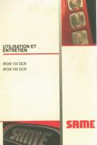 IRON 135 DCR - IRON 155 DCR - Utilisation et entretien