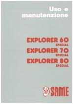 EXPLORER 60 - 70 - 80 Special - Libretto uso & manutenzione