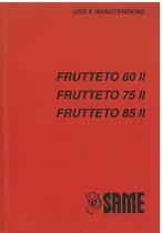 FRUTTETO 60 II - 75 II - 85 II - Libretto uso & manutenzione