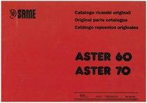 ASTER 60 - 70 Catalogo Parti di Ricambio / Spare parts catalogue / Catálogo peças originais