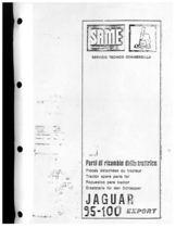 JAGUAR 95-100 - Catalogo Parti di Ricambio / Catalogue de pièces de rechange / Spare parts catalogue / Ersatzteilliste / Lista de repuestos