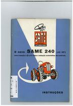SAME 240 (42 HP) - Uso e Manutençao