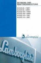 R3 EVO 85 ->16001 - R3 EVO 85 ->20001 - R3 EVO 100 ->16001 - R3 EVO 100 ->20001 - R3 EVO 110 ->1001 - R3 EVO 110 ->5001 - Betriebs - und Wartungsanleitung