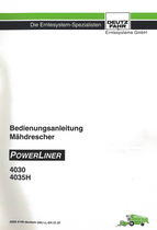 POWERLINER 4030 - POWERLINER 4035 H - Bedienungsanleitung