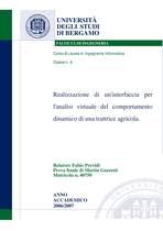 GUZZETTI Martin, Realizzazione di un interfaccia per l'analisi virtuale del comportamento dinamico di una trattrice agricola, Bergamo, S.n., 2005