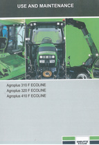 AGROPLUS 310 F ECOLINE - AGROPLUS 320 F ECOLINE - AGROPLUS 410 F ECOLINE - Use and maintenance