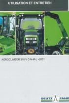AGROCLIMBER 310 V C-N-M-L ->2001 - Utilisation et entretien