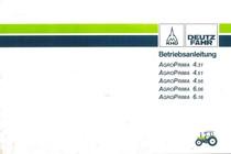 AGROPRIMA 4.31 - AGROPRIMA 4.51 - AGROPRIMA 4.56 - AGROPRIMA 6.06 - AGROPRIMA 6.16 - Betriebsanleitung