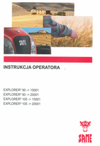 EXPLORER³ 90 ->15001 - EXPLORER³ 90 ->20001 - EXPLORER³ 105 ->15001 - EXPLORER³ 105 ->20001 - Instrukcja operatora