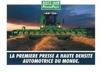 POWER PRESS La premiere presse a huate densite automotrice du mond