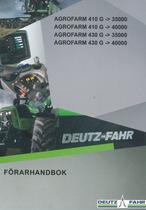 AGROFARM 410 G ->35000 - AGROFARM 410 G ->40000 - AGROFARM 430 G ->35000 - AGROFARM 430 G ->40000 - Förarhandbok