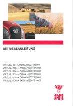 VIRTUS J 90 ->ZKDY330200TS10001 - VIRTUS J 100 ->ZKDY370200TS10001 - VIRTUS J 100 ->ZKDY450200TS10001 - VIRTUS J 110 ->ZKDY410200TS10001 - VIRTUS J 110 ->ZKDY490200TS10001 - VIRTUS J 120 ->ZKDY530200TS10001 - Betriebsanleitung