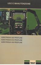 AGROTRON K 420 PROFILINE - AGROTRON K 610 PROFILINE - AGROTRON K 430 PROFILINE - Uso e manutenzione