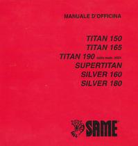 TITAN 150 - TITAN 165 - TITAN 190 dalla matr. 3001 - SUPERTITAN - SILVER 160 - SILVER 180 - Manuale d'officina