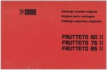 FRUTTETO II 60-75-85 - Catalogo Parti di Ricambio / Spare parts catalogue / Catálogo peças originais