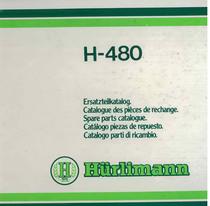 H 480 - Catalogo Parti di Ricambio / Catalogue des Pièces de Rechange / Spare Parts Catalogue / Catàlogo Piezes de Repuesto / Ersetzteilkatalog