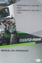 AGROFARM 410 T ECOLINE ->10001 - AGROFARM 420 T ECOLINE ->10001 - Manual do operador