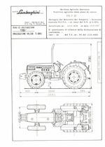 Atto di omologazione della trattrice Lamborghini 775 F DT