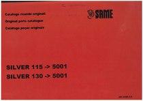 SILVER 115 ->5001 - SILVER 130 ->5001 - Catalogo ricambi originali / Original parts catalogue / Catalogo peças originais