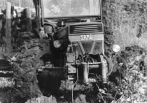 Trattore SAME Centauro con carro per il trasporto dei tronchi