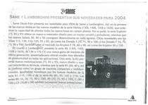 SAME y Lamborghini presentan sus novedades para 2004