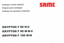 KRYPTON F 80 N-C - KRYPTON F 90 M-N-C - KRYPTON F 100 M-N - Catalogo ricambi originali / Original parts catalogue / Catalogo de repuestos originales