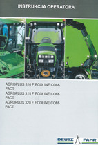AGROPLUS 310 F ECOLINE COMPACT - AGROPLUS 315 F ECOLINE COMPACT - AGROPLUS 320 F ECOLINE COMPACT - Instrukcja operatora