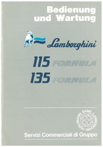 115 FORMULA - 135 FORMULA - Bedienung und wartung