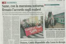 SAME, con la maratona notturna firmato l'accordo sugli esuberi