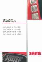 EXPLORER³ 85 TB ->1001 - EXPLORER³ 85 TB ->5001 - EXPLORER³ 100 TB ->1001 - EXPLORER³ 100 TB ->5001 - Obsluga i konserwacji