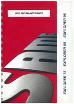 EXPLORER 75 - 85 - 95 - Use and maintenance