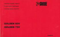 GOLDEN 60 V-75 V - Catalogo ricambi originali / Original parts catalogue / Catálogo peças originais
